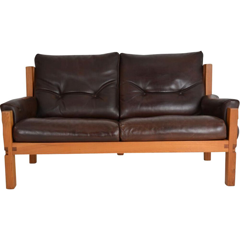 "Sofa 2 seats ""S 22"" vintage of Pierre Chapo 1967"