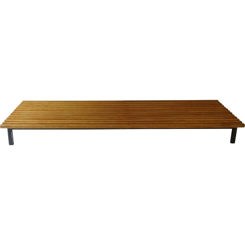 Vintage Cansado bench by Charlotte Perriand 1954