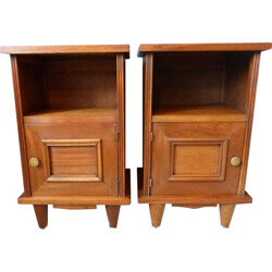 Pair of night stands in mahogany - 1950s