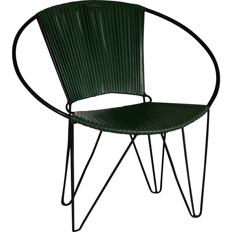 Vintage Plastic and Wire Chair, 1960s