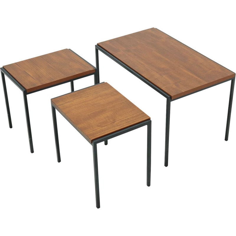 Vintage Pastoe Nesting Tables Japanese Series by Cees Braakman 1960s