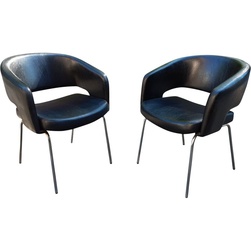 Pair of Vintage conference armchairs 1960