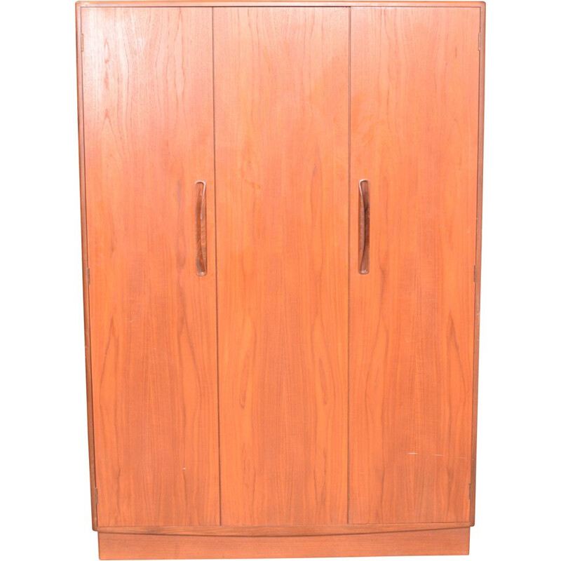 Vintage Restored Teak G Plan Fresco Triple Wardrobe By Viktor Wilkins 1960s