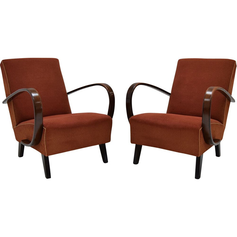 Pair of mid-century Armchairs by Jindrich Halabala,1950s