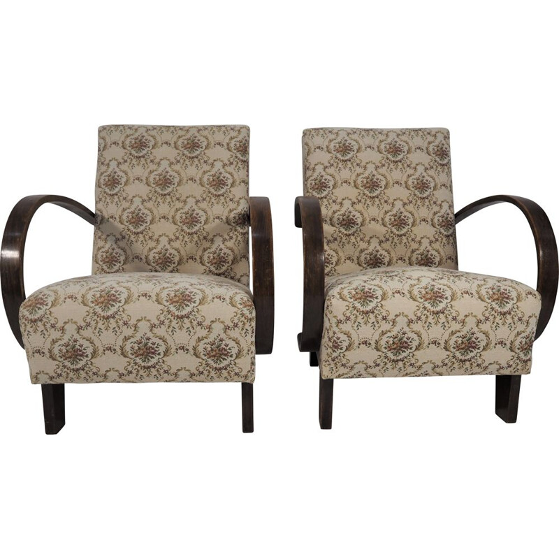 Pair of Vintage Armchairs by Thonet, 1950s