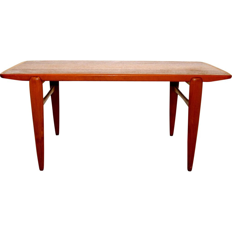 Vintage teak and beech coffee table, Sweden 1960