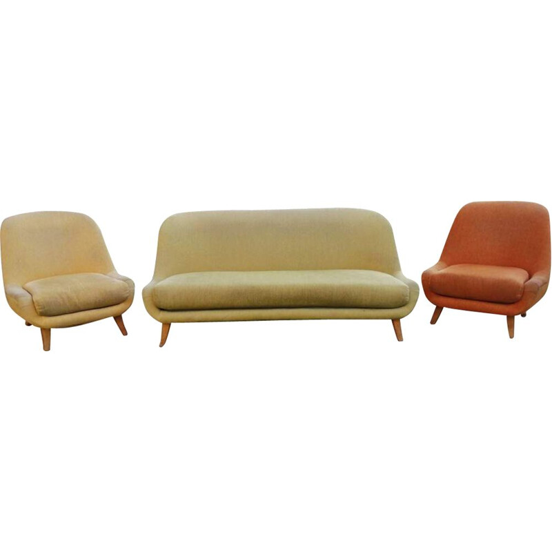 Set of armchairs and sofa Walter Knoll 1960