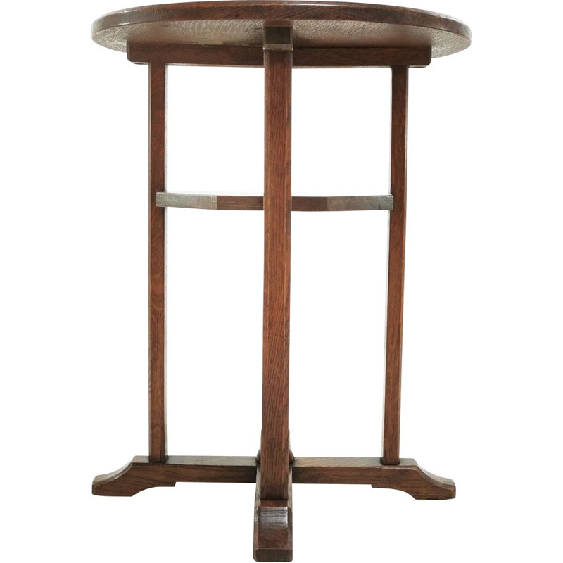 Vintage Arts and Crafts Heals Cotswold School Oakm Table