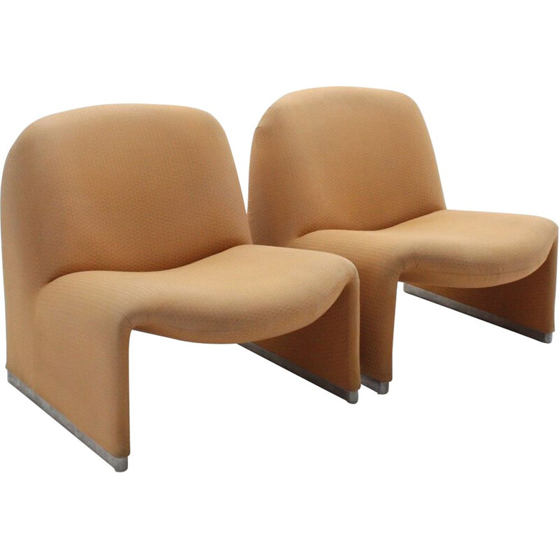 Pair of vintage ALKY armchairs G. Piretti CASTELLI 1960