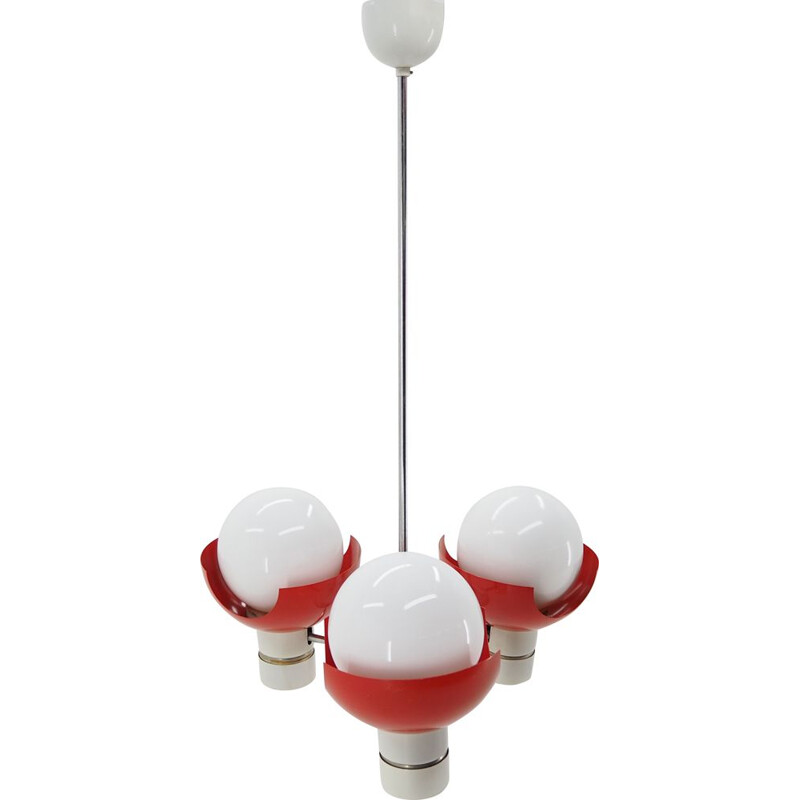 Midcentury Chandelier Designed by Josef Hurka for Napako, 1970s type 81339