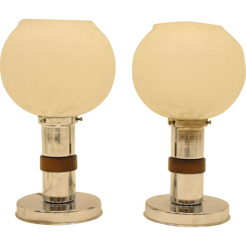 Pair of table lamps vintage art deco 1920s