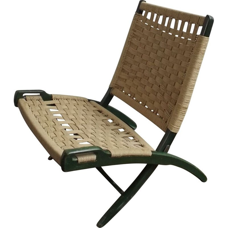 Vintage Ebert Wels folding  rope chair