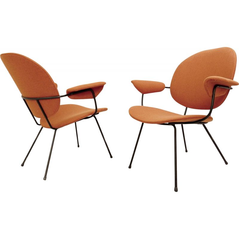 Pair of Vintage 302 Armchairs by Willem Hendrik Gispen for Kembo, 1950