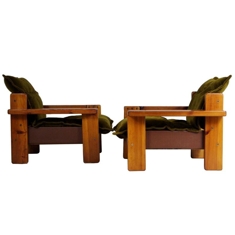 Pair of vintage Club Chairs Czech 1970s
