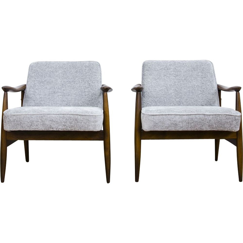 Set of vintage armchairs Model Gfm 87 by Julisz Kędziorek For Gfm, 1960