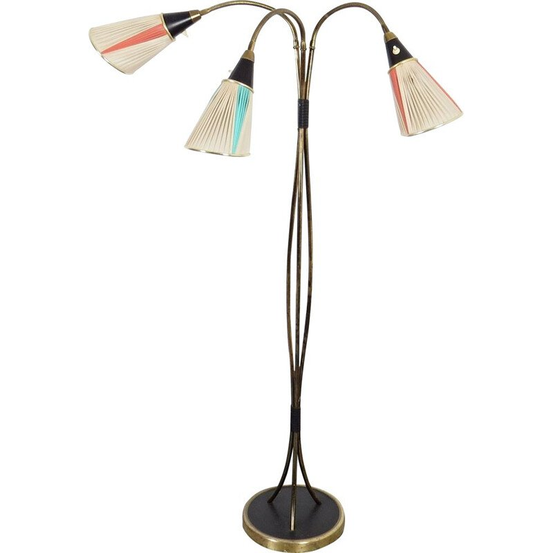 Vintage Floor Lamp with 3 heads 1960s
