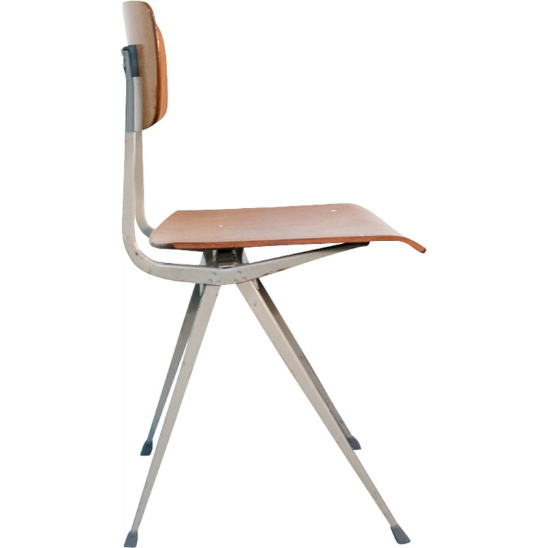 Ahrend de cirkel result chair in metal and wood friso kramer 1960s