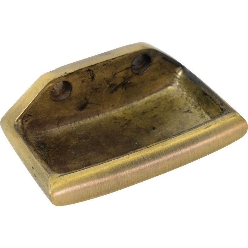 Vintage brass soap dish