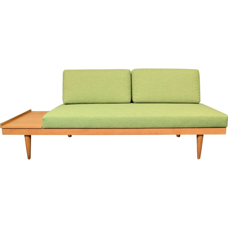 Vintage 2-seater oak sofa-bed Inmar Relling