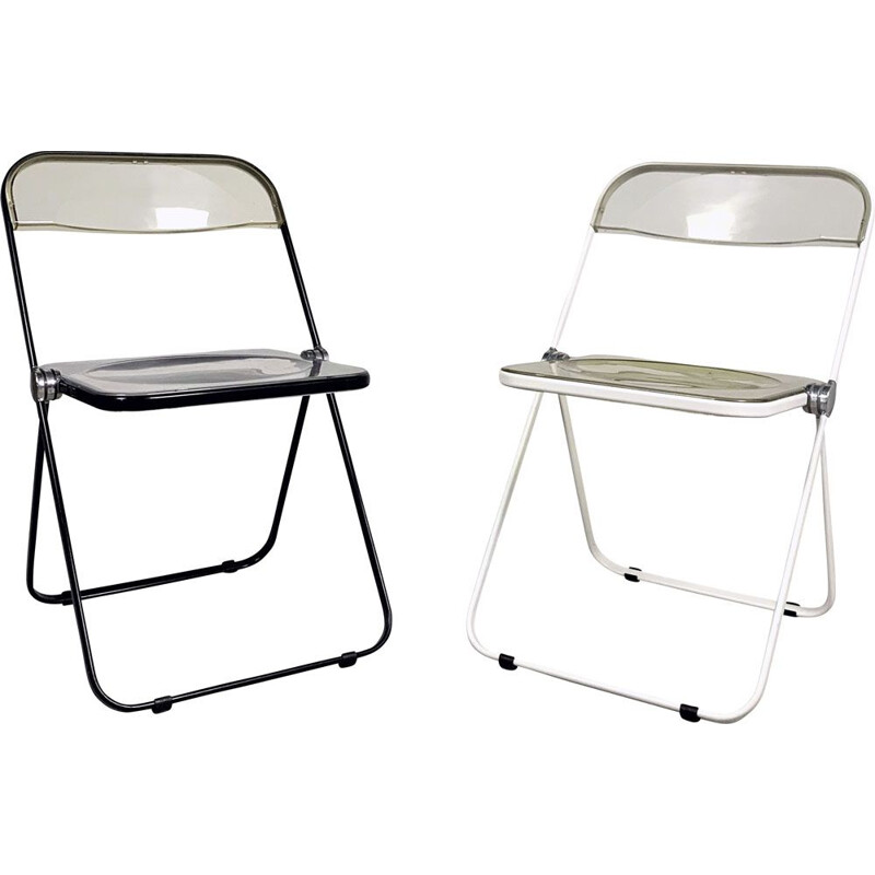 Pair of vintage Plia folding chairs by Giancarlo Piretti for Castelli, 1960s