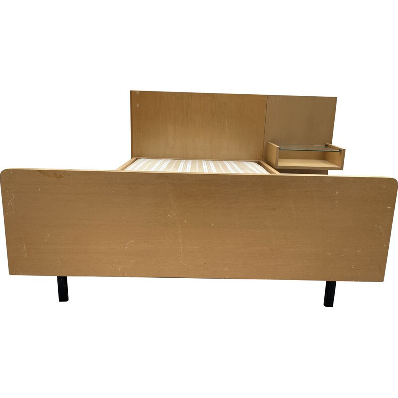 Vintage resting bed in ash and metal by ARP Motte, Mortier, Guariche 1960