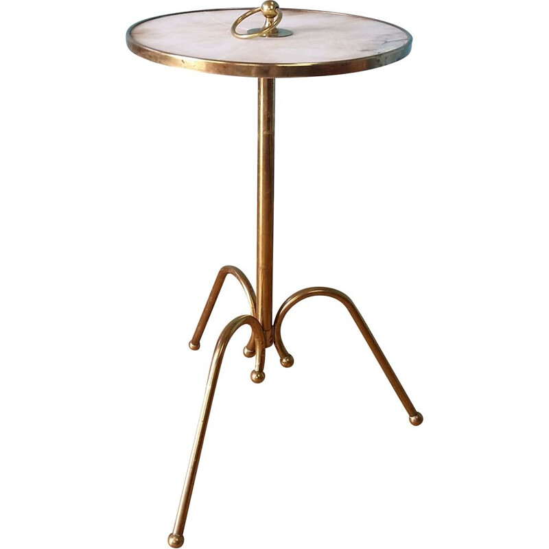 Vintage Brass side table by Cesare Lacca 1950s