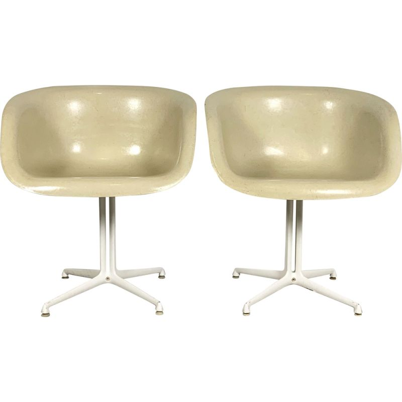 Pair of vintage La Fonda Armchairs by Charles & Ray Eames for Herman Miller, 1970s