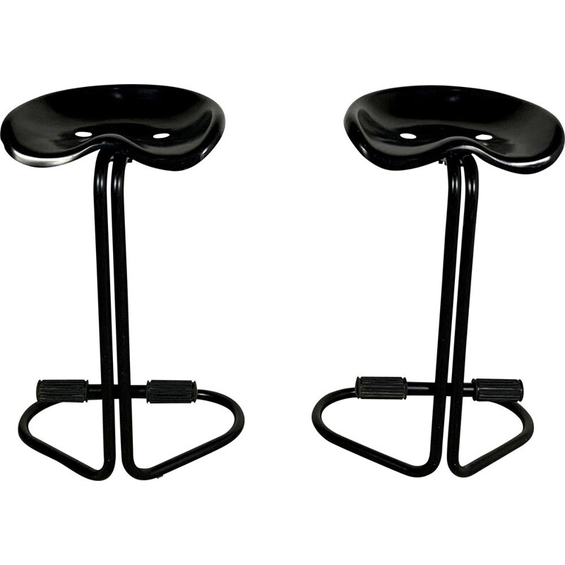 Pair of vintage Tractor Stools by Rodney Kinsman for Bieffeplast, 1970s
