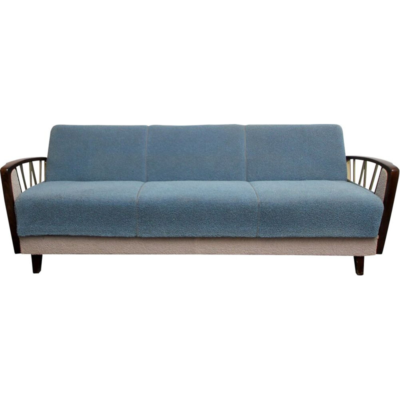 Vintage sofadaybed in grey blue 1950s