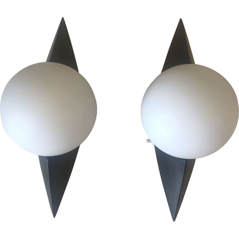 Pair of vintage wall lights from arlus 1960