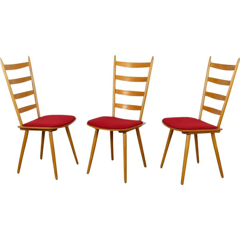 Set of 3 Dining chairs Czechoslovakia 1970s