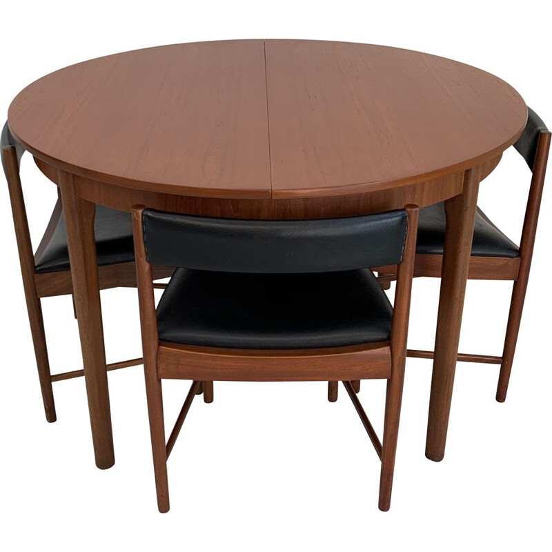 Vintage Teak Extensible Dining Set with 4 Chairs McIntosh 1960
