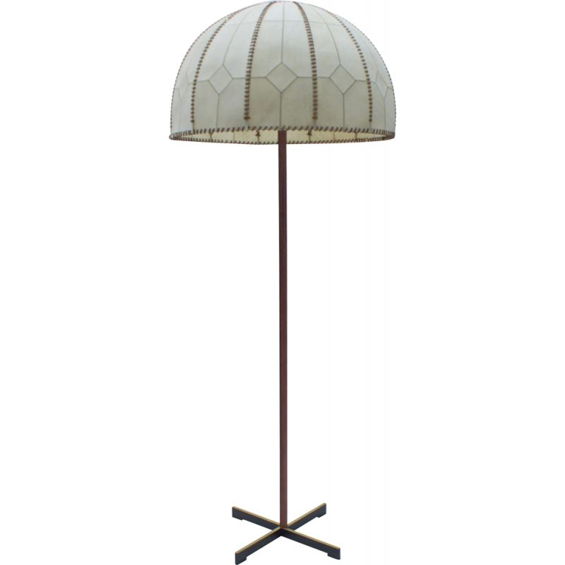 Vintage Floor Lamp with Sewn Shade from Kaiser Idell  Kaiser Leuchten, 1960s