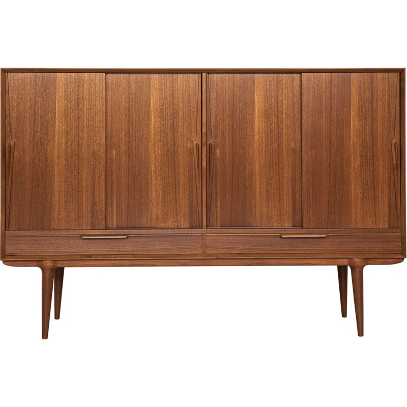 Midcentury highboard in teak model 13 by Omann Jun Danish 1960s
