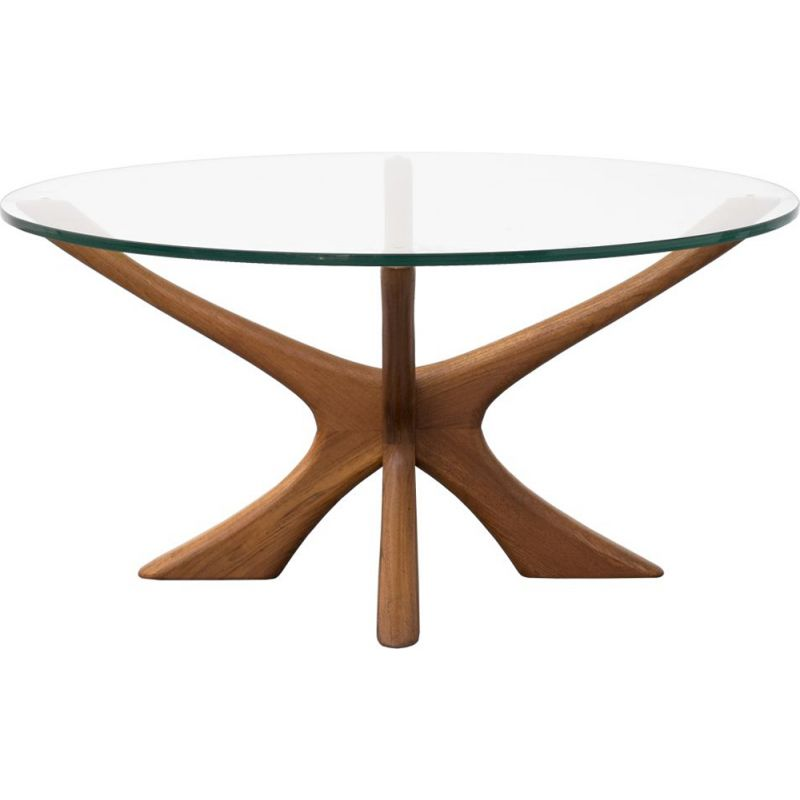 Vintage coffee table by the Danish Illum Wikkelsø for the label Niels Eilersen 1960s
