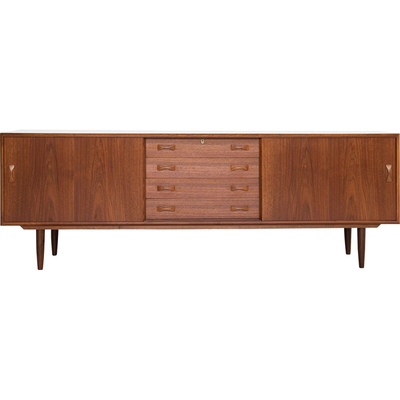 Midcentury sideboard in teak by Clausen & Søn Danish 1960s