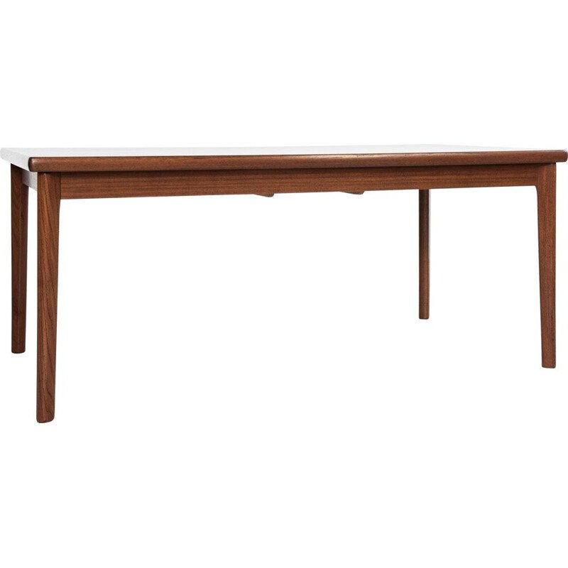 Midcentury rectangular dining table in teak with 2 extensions Danish 1960s
