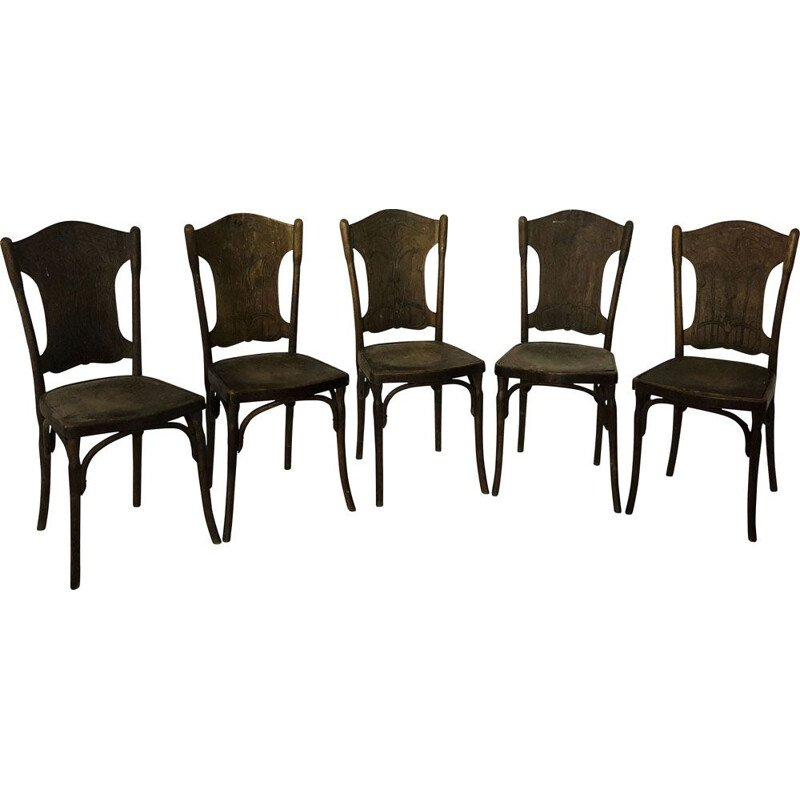 Suite of 5 vintage J.J Kohn chairs