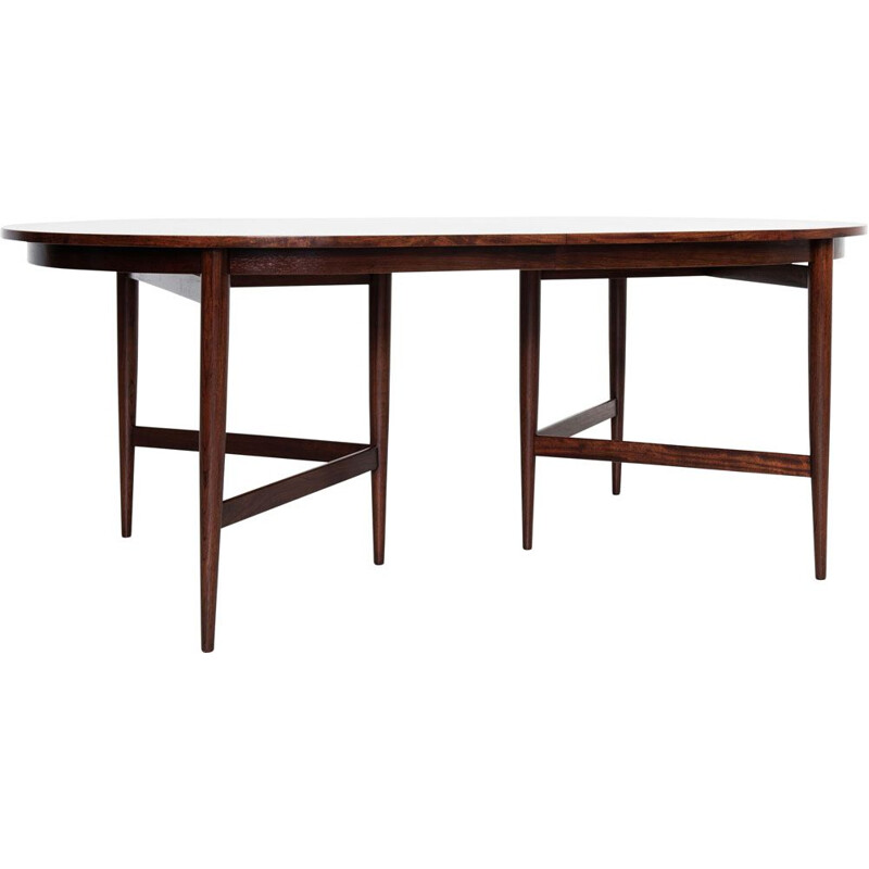 Midcentury oval dining table in rosewood by Werner Wölfer for V-form 1960s