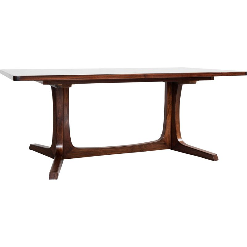 Vintage XL rectangular dining table in rosewood by Gudme Møbelfabrik Danish 1960s