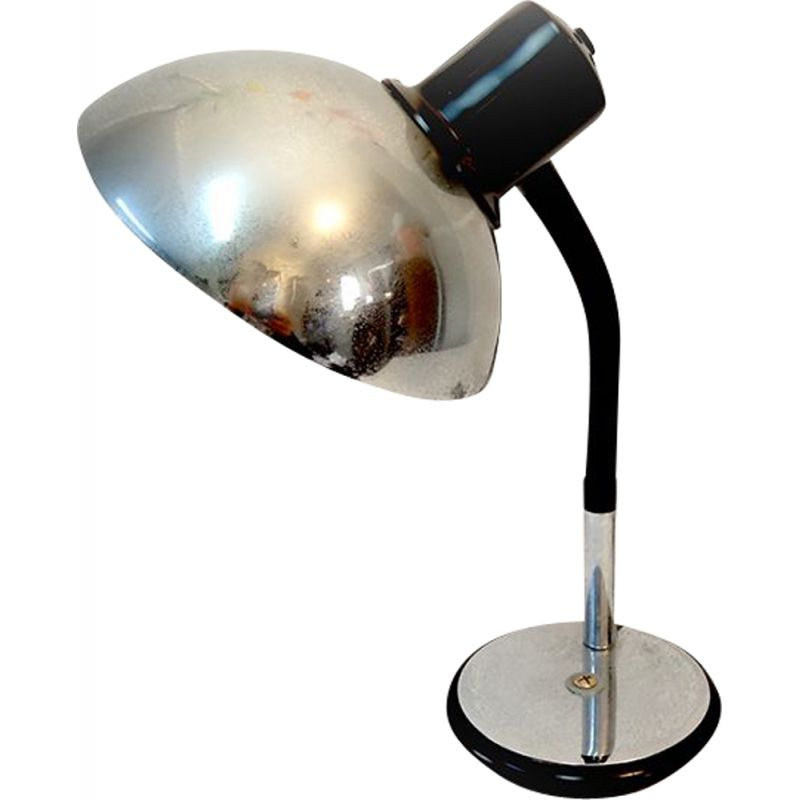 Vintage Industrial Chrome Lamp