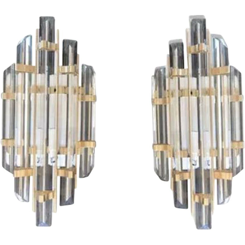 Pair of Venini vintage wall lights
