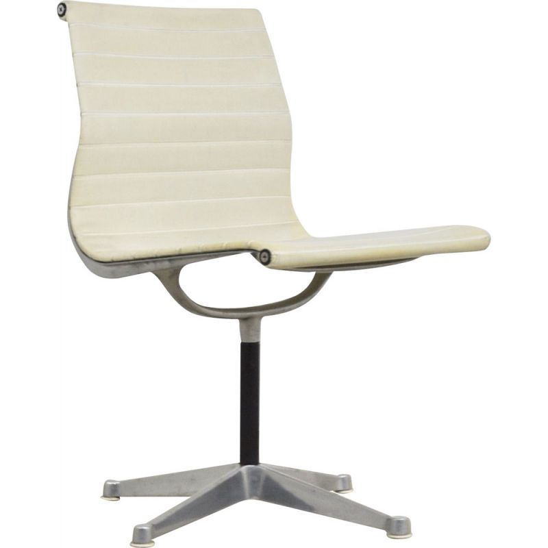 Vintage White Office Armchair by Charles &Ray Eames for Herman Miller 1970s