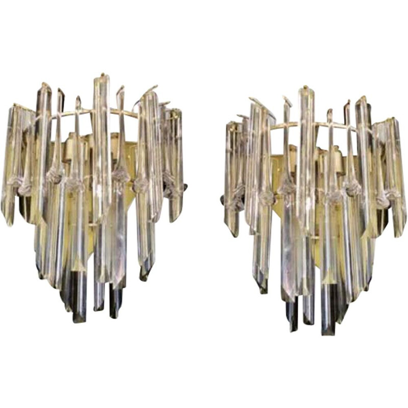 Pair of vintage sconces and Venini flowers version 1980