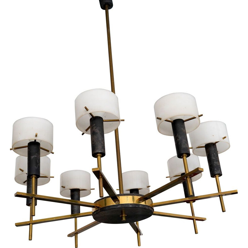Vintage chandelier by Angelo Brotto for Esperia, Italian