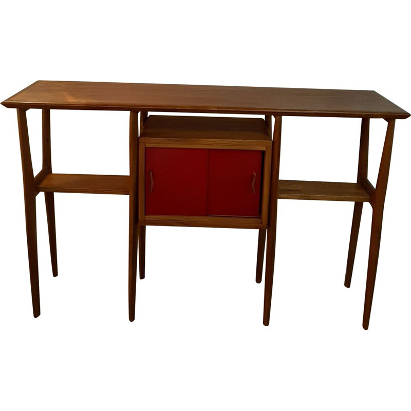 Large Vintage Console in Elm, Italy 1950