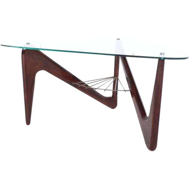 Vintage coffee table Zig Zag by Louis Sognot 1950