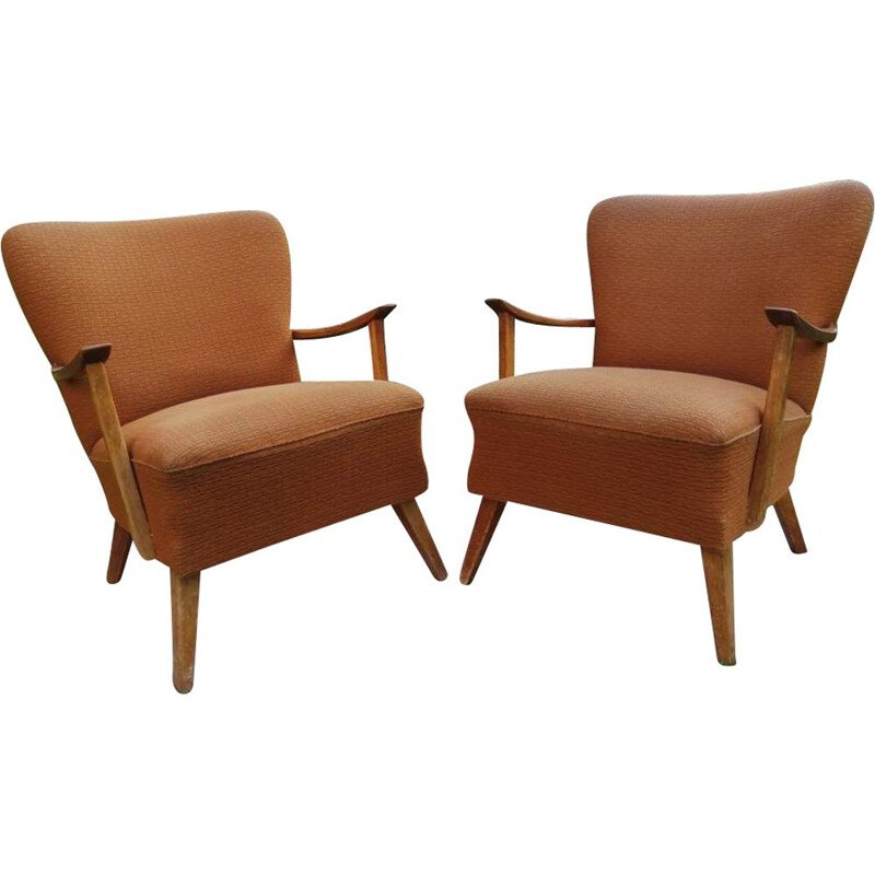 Pair of Vintage armchairs on straight legs, 1960s