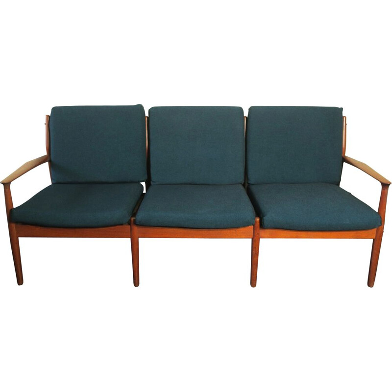 Vintage teak 3 seater sofa by Grete Jalk Danish 1960