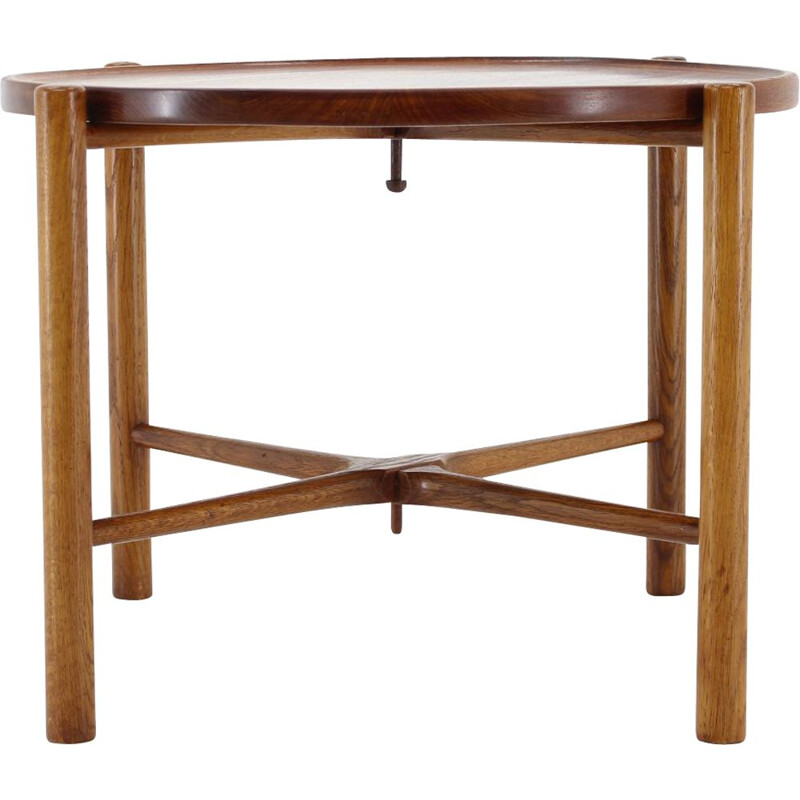 Vintage Teak and Oak Table Side Hans J. Wegner for Andreas Tuck Denmark 1960s